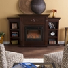 Tennyson Espresso Electric Fuel Fireplace w/ Bookcases - Holly and Martin