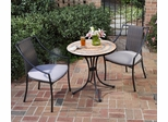 Terra Cotta Bistro Table and 2 Cambria Arm Chairs - Home Styles - 5603-342