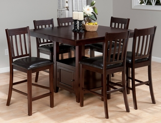 Tessa Chianti 7-Piece Counter Height Table Set - 933-BS429KD
