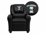 Texas A&M University - Corpus Christi Islanders Black Vinyl Kids Recliner - DG-ULT-KID-BK-41076-EMB-GG