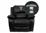 Texas A&M University - Corpus Christi Islanders Leather Rocker Recliner - MEN-DA3439-91-BK-41076-EMB-GG