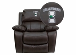 Texas A&M University - Corpus Christi Islanders Leather Rocker Recliner - MEN-DA3439-91-BRN-41076-EMB-GG