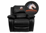 Texas at Arlington Mavericks Black Leather Rocker Recliner - MEN-DA3439-91-BK-41097-EMB-GG