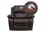 Texas at Arlington Mavericks Brown Leather Rocker Recliner - MEN-DA3439-91-BRN-41097-EMB-GG