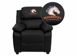 Texas at Arlington Mavericks Embroidered Black Leather Kids Recliner - BT-7985-KID-BK-LEA-41097-EMB-GG