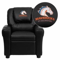 Texas at Arlington Mavericks Embroidered Black Vinyl Kids Recliner - DG-ULT-KID-BK-41097-EMB-GG