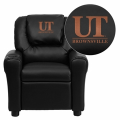 Texas at Brownsville Scorpions Embroidered Black Vinyl Kids Recliner - DG-ULT-KID-BK-41098-EMB-GG