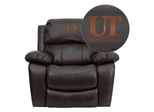 Texas at Brownsville Scorpions Embroidered Brown Leather Rocker Recliner  - MEN-DA3439-91-BRN-41098-EMB-GG