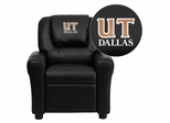Texas at Dallas Comets Black Vinyl Kids Recliner - DG-ULT-KID-BK-41099-EMB-GG