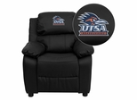 Texas at San Antonio Roadrunners Black Leather Kids Recliner - BT-7985-KID-BK-LEA-41102-EMB-GG