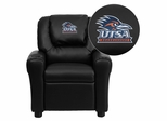 Texas at San Antonio Roadrunners Black Vinyl Kids Recliner - DG-ULT-KID-BK-41102-EMB-GG