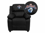 Texas at Tyler Patriots Black Leather Kids Recliner - BT-7985-KID-BK-LEA-41103-EMB-GG