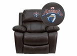 Texas at Tyler Patriots Embroidered Brown Leather Rocker Recliner  - MEN-DA3439-91-BRN-41103-EMB-GG