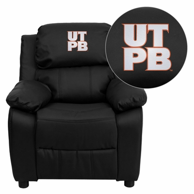 Texas Permian Basin Falcons Black Leather Kids Recliner - BT-7985-KID-BK-LEA-41101-EMB-GG