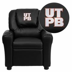 Texas Permian Basin Falcons Black Vinyl Kids Recliner - DG-ULT-KID-BK-41101-EMB-GG
