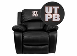 Texas Permian Basin Falcons Leather Rocker Recliner - MEN-DA3439-91-BK-41101-EMB-GG