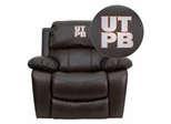 Texas Permian Basin Falcons Leather Rocker Recliner - MEN-DA3439-91-BRN-41101-EMB-GG