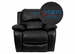 Texas State Technical College Black Leather Rocker Recliner - MEN-DA3439-91-BK-41077-EMB-GG