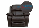Texas State Technical College Brown Leather Rocker Recliner - MEN-DA3439-91-BRN-41077-EMB-GG
