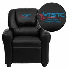 Texas State Technical College Embroidered Black Vinyl Kids Recliner - DG-ULT-KID-BK-41077-EMB-GG