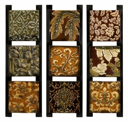 Textures Enamel Painted Triptychs (Set of 3) - IMAX - 12638-3