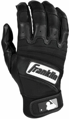 The Natural II Adult Batting Glove Black - Franklin Sports