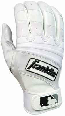 The Natural II Adult Batting Glove Pearl / White - Franklin Sports