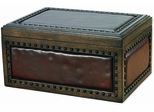 The Nottingham Leather and Wood Cigar Humidor - HUM-200NH