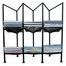 Three Division CD Holder - Black - Pangaea Home and Garden Furniture - FM-C4298-K