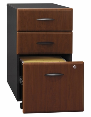 Three-Drawer File (Assembled) - Series A Hansen Cherry Collection - Bush Office Furniture - WC94453SU