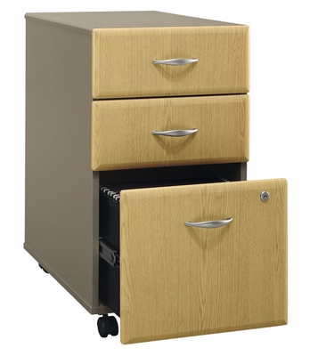 Three-Drawer File (Assembled) - Series A Light Oak Collection - Bush Office Furniture - WC64353SU