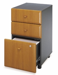 Three-Drawer File (Assembled) - Series A Natural Cherry Collection - Bush Office Furniture - WC57453SU