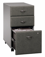 Three-Drawer File (Assembled) - Series A Pewter Collection - Bush Office Furniture - WC14553SU