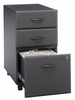 Three-Drawer File (Assembled) - Series A Slate Collection - Bush Office Furniture - WC84853SU