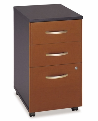 Three-Drawer File (Assembled) - Series C Auburn Maple Collection - Bush Office Furniture - WC48553SU