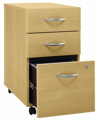 Three-Drawer File (Assembled) - Series C Light Oak Collection - Bush Office Furniture - WC60353SU