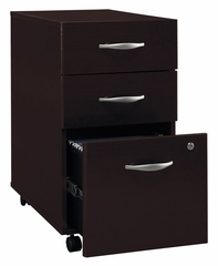 Three-Drawer File (Assembled) - Series C Mocha Cherry Collection - Bush Office Furniture - WC12953SU