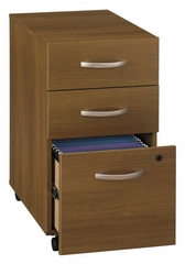 Three-Drawer File (Assembled) - Series C Warm Oak Collection - Bush Office Furniture - WC67553SU