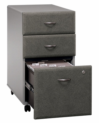 Three-Drawer File - Series A Pewter Collection - Bush Office Furniture - WC14553