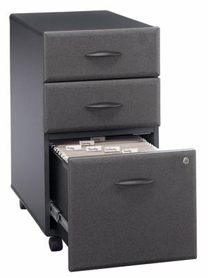 Three-Drawer File - Series A Slate Collection - Bush Office Furniture - WC84853