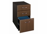 Three-Drawer File - Series A Walnut Collection - Bush Office Furniture - WC25553