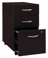 Three-Drawer File - Series C Mocha Cherry Collection - Bush Office Furniture - WC12953