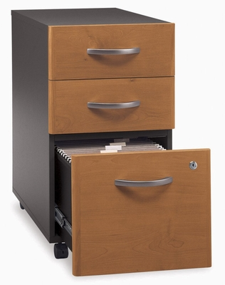 Three-Drawer File - Series C Natural Cherry Collection - Bush Office Furniture - WC72453