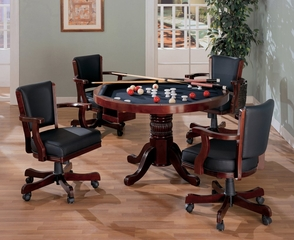 Three-in-One Game Table and Chair Set in Cherry - Coaster