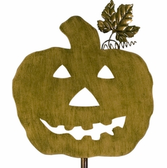 Three Pumpkin Friends Yard Stakes (Set of 3) - IMAX - 59412-3