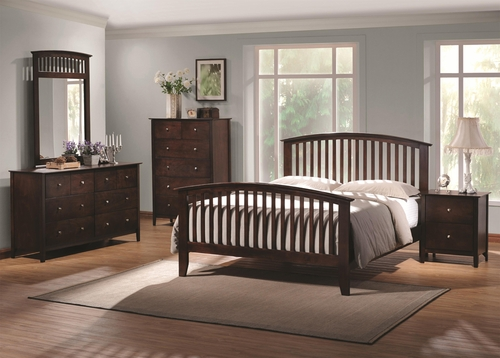 Tia Cappuccino 5 Piece Bedroom Set - 202081Q