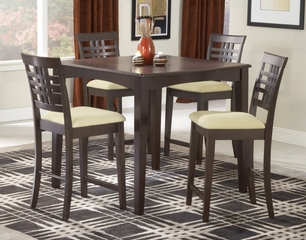 Tiburon 5-Piece Counter Height Dining Room Furniture Set - Hillsdale Furniture - 4917DTBSG