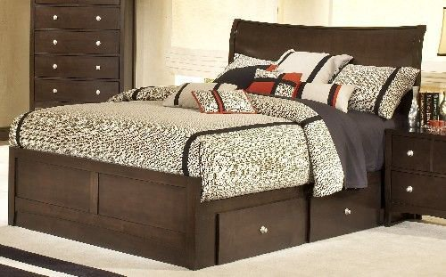 Tiburon Bentwood King Size Storage Bed - Hillsdale Furniture - 1418669STGB