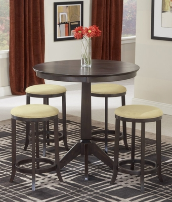 Tiburon Pub Table with 4 Backless Stools - Hillsdale Furniture - 4917-845