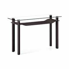 Tier Leatherette Console Table in Espresso - Zuo